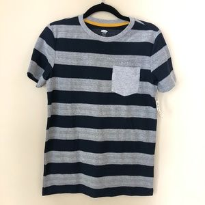 Old Navy Boy's Gray and Blue Striped T-shirt *NEW
